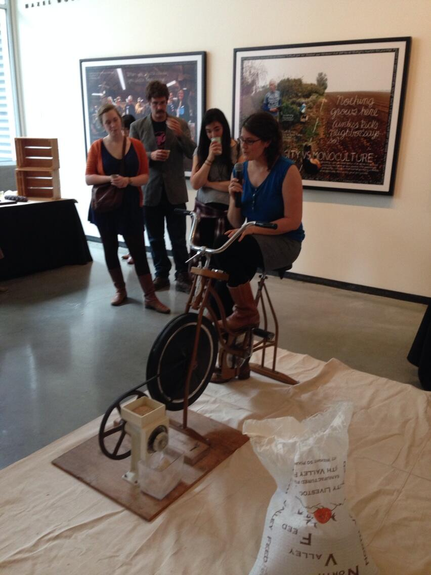 Twitter / aroncramer: Bike powered flour mill at ...
