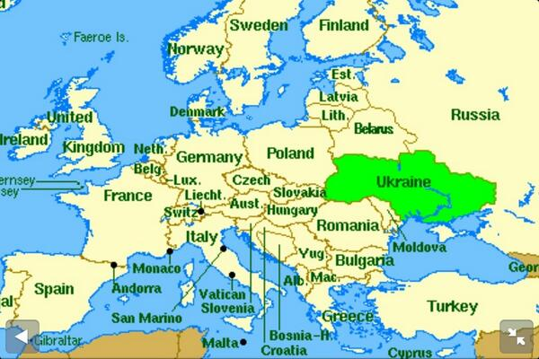Econometrist on Twitter Here is a map showing Ukraine located
