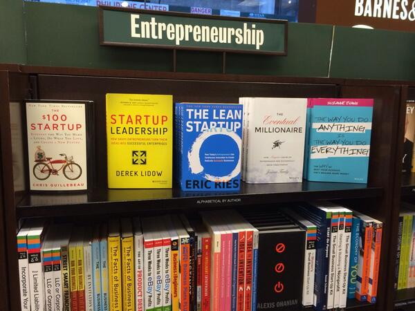 My book on Barnes and noble on 5th avenue in NYC. Same shelf as @chrisguillebeau !!! :) http://t.co/2SpKruOgkC