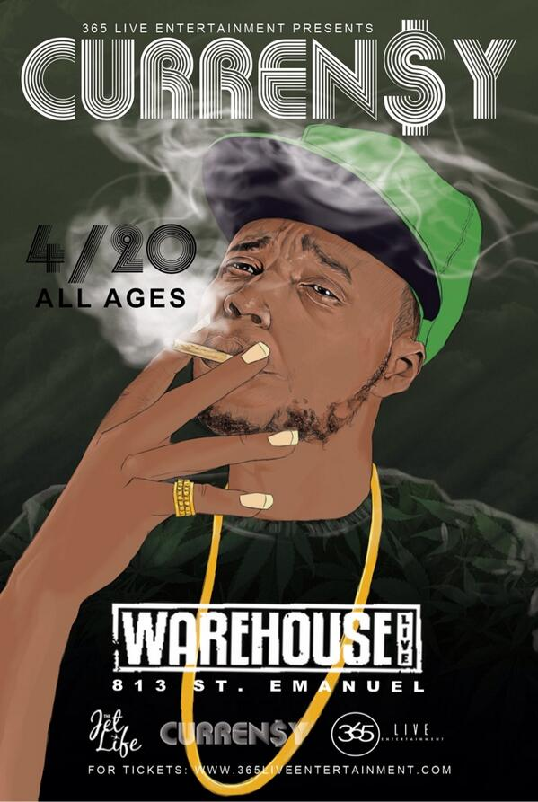 CURREN$Y LIVE IN CONCERT 4/20 celebration IN HOUSTON, TX @WAREHOUSELIVE! TICKETS ON SALE MONDAY! @NOON!! http://t.co/eqFylxXB7J