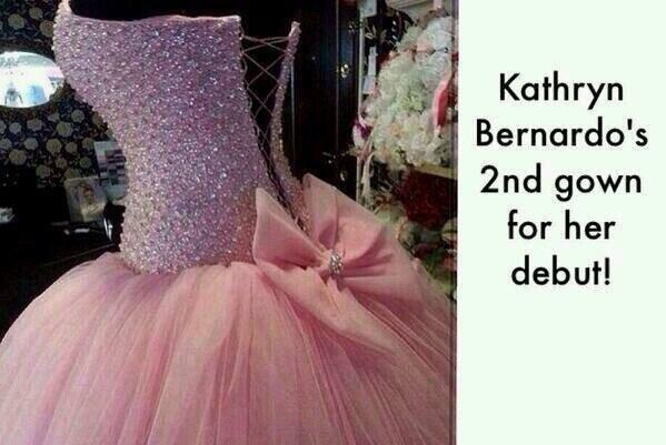 Kathryn bernardo debut preparation gown
