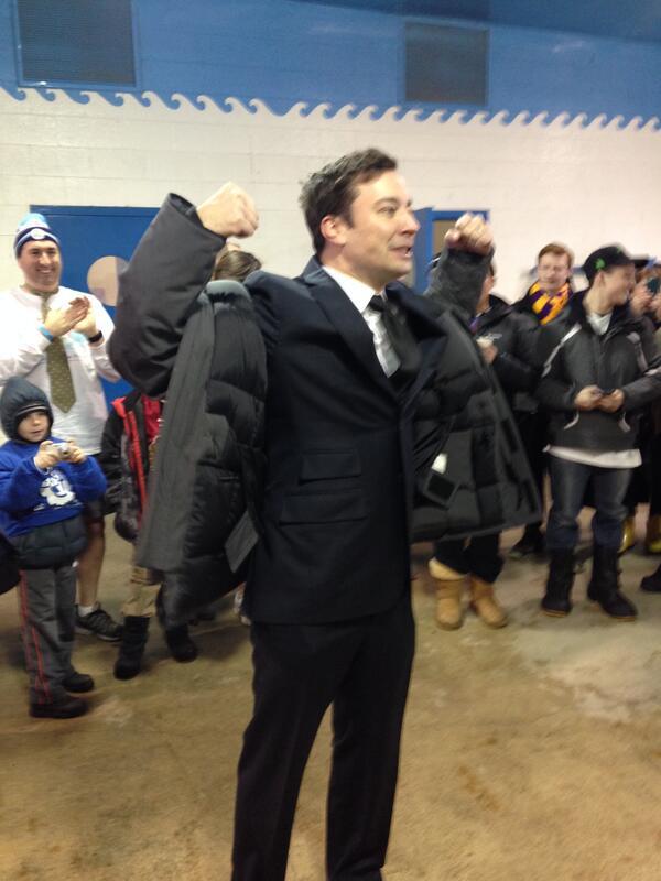 """GO JIMMY! """"@kuma076: @SpecialOChi @SpecialOlympics #chicagopolarplunge #PolarPlunge #polarplungechi #SwimmyFallon http://t.co/VB5FlHuJtQ"""