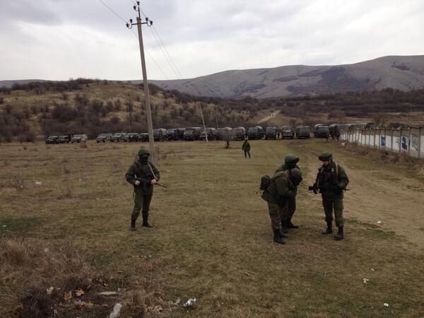 (Image: Daniel Sandford) The main news from this morning are three things.  The first is that the Russians have recieved reinforcements in the Crimea.  Secondly that there have been multiple reports...