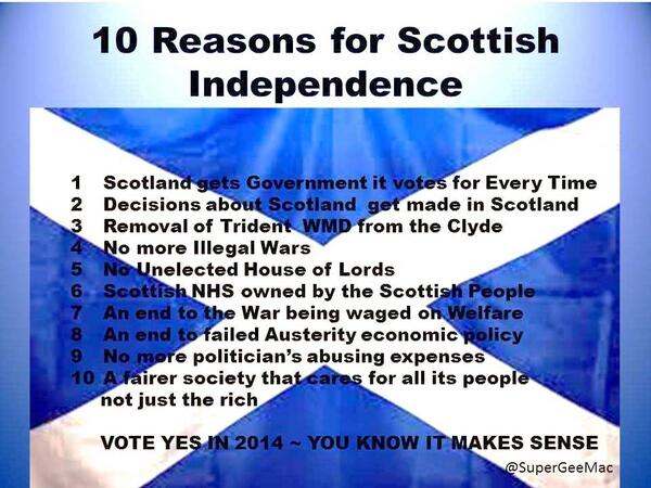 Scottish Independence: 10 reasons why Unionists are against