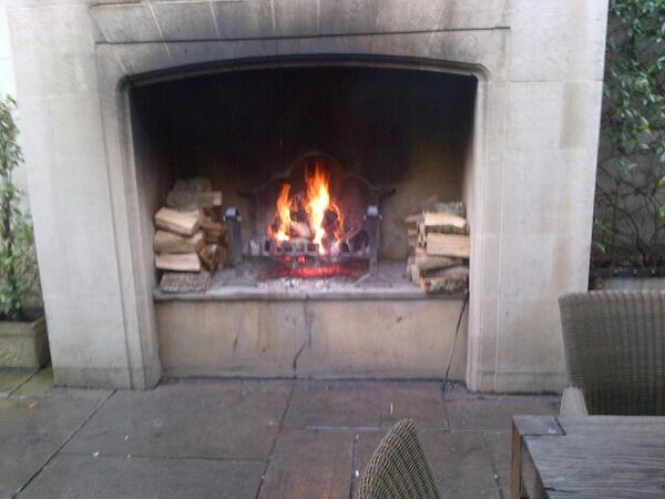 By the fire #pighotel after a lovely lunch