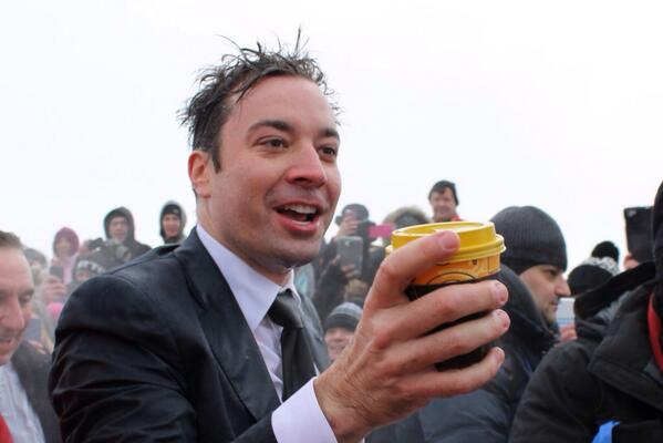 #SwimmyFallon thanks for coming out to #PolarPlungeChi! Argo Tea loves you. http://t.co/8S4jBYqHhC