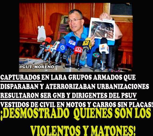 """""""@rodrigopb13: CAPTURADOS EN LARA TERRORISTAS C PROTECCION DE FANB http://t.co/q6VBDvUwQ9"""" /guardias de civiles y part de Gob #SOSVenezuela"""