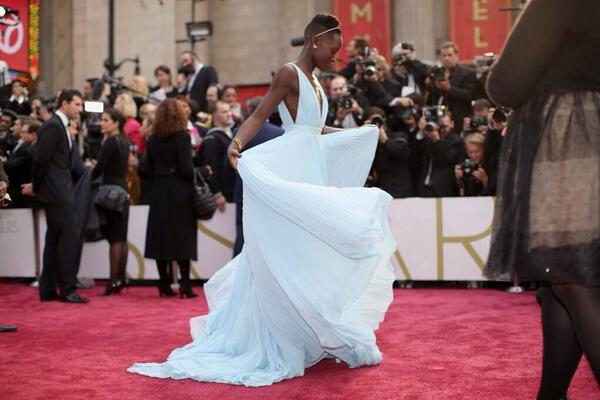 Love that shot. Cast her as a superhero. Give her a cape. RT @MatthewACherry: Lupita looking like a princess. http://t.co/NAS6QX0j6s