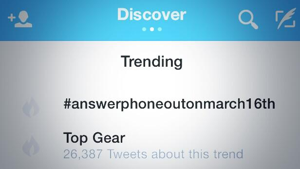 WE ARE GETTING THERE LETS GET THIS WORLDWIDE #Answerphoneout16thmarch http://t.co/FWHHtdC7mz