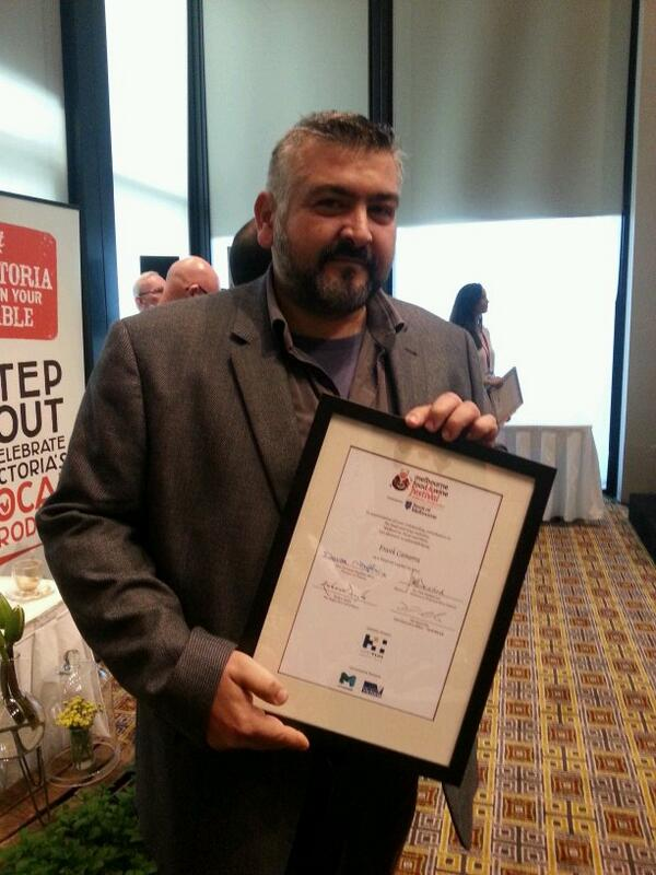 Congratulations to chef, restaurateur and now Legend Frank Camorra from @MoVidaMelbourne etc. http://t.co/lehzmWx9jr