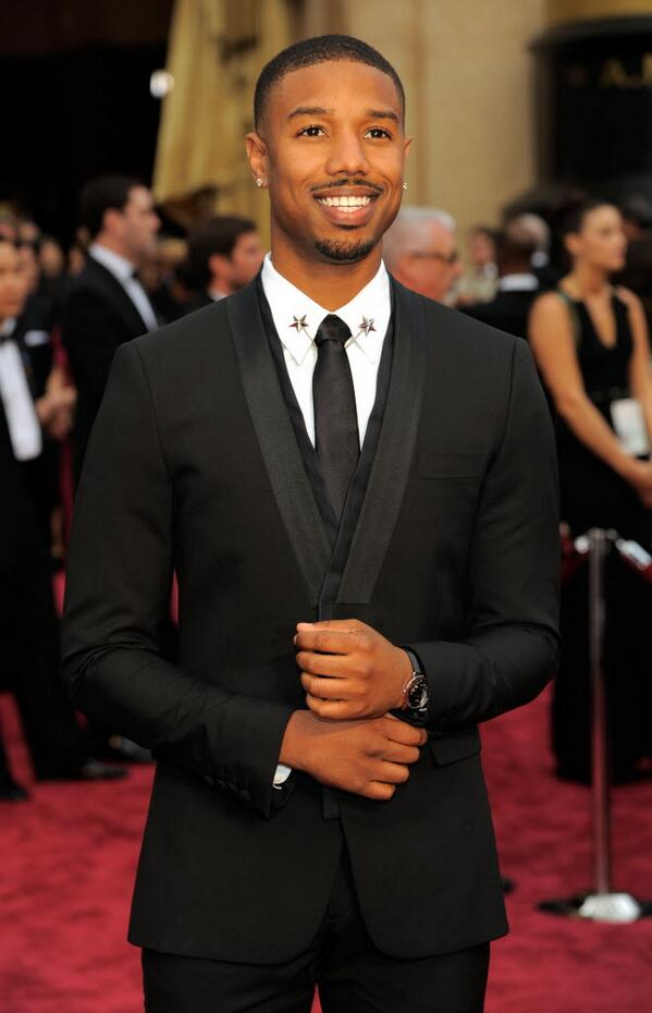 Michael B. Jordan's neck wear is on fire tonight. (Sidebar: still need to see 'Fruitvale Station.') #oscars http://t.co/j6JD7HHqfh