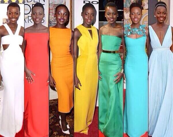 Here's to Award-winning style! It belongs to Lupita Nyong'o! http://t.co/xmWCod3wMV
