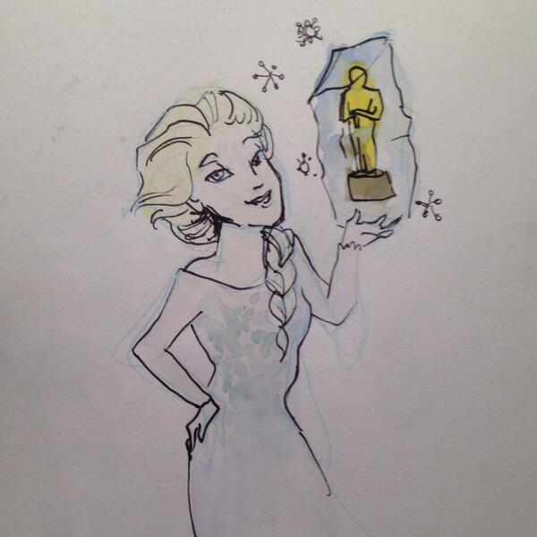 Best Animated Feature goes to #Frozen! http://t.co/nbLWDua4ho #Oscars http://t.co/Al8XwjM6Sh