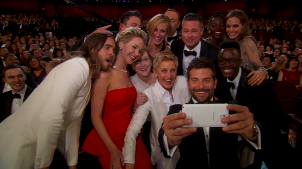 Here's that selfie... #Oscars http://t.co/0qPYeKv7UA