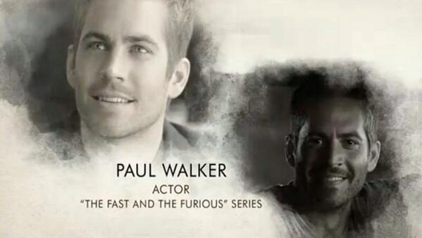 En memoria a Paul Walker... #Oscars2014 http://t.co/4z7EsStVff