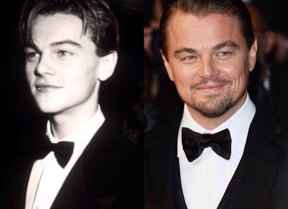 20 años después: Leonardo Di Caprio en los Oscars 1994 y #Oscars2014. http://t.co/W6veeW0Q1z
