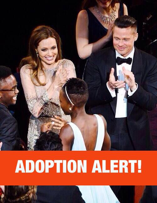 ADOPTION ALERT  #OSCARS Brad and Angelina got there eyes on you two. http://t.co/QAGQnnDMuT