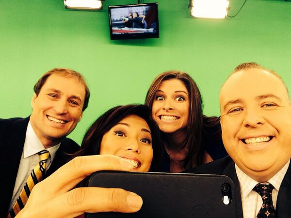 Whatever Ellen! Here is our @globalbcmorning selfie.  RT the team tweet @globalbc http://t.co/Rdwrp6ysUl