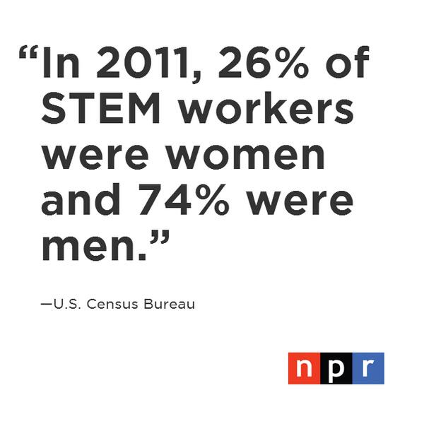 Q1: When it comes to women in the STEM fields why are the statistics so grim? #NPRWIT http://t.co/RfKrvuN9fw