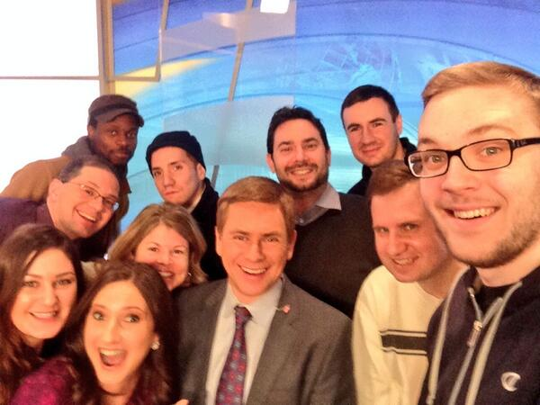 Best @NY1 morning crew selfie ever. And Bill's arm was long enough. Will we get 2 million RTs? http://t.co/ylHIoDtCUU