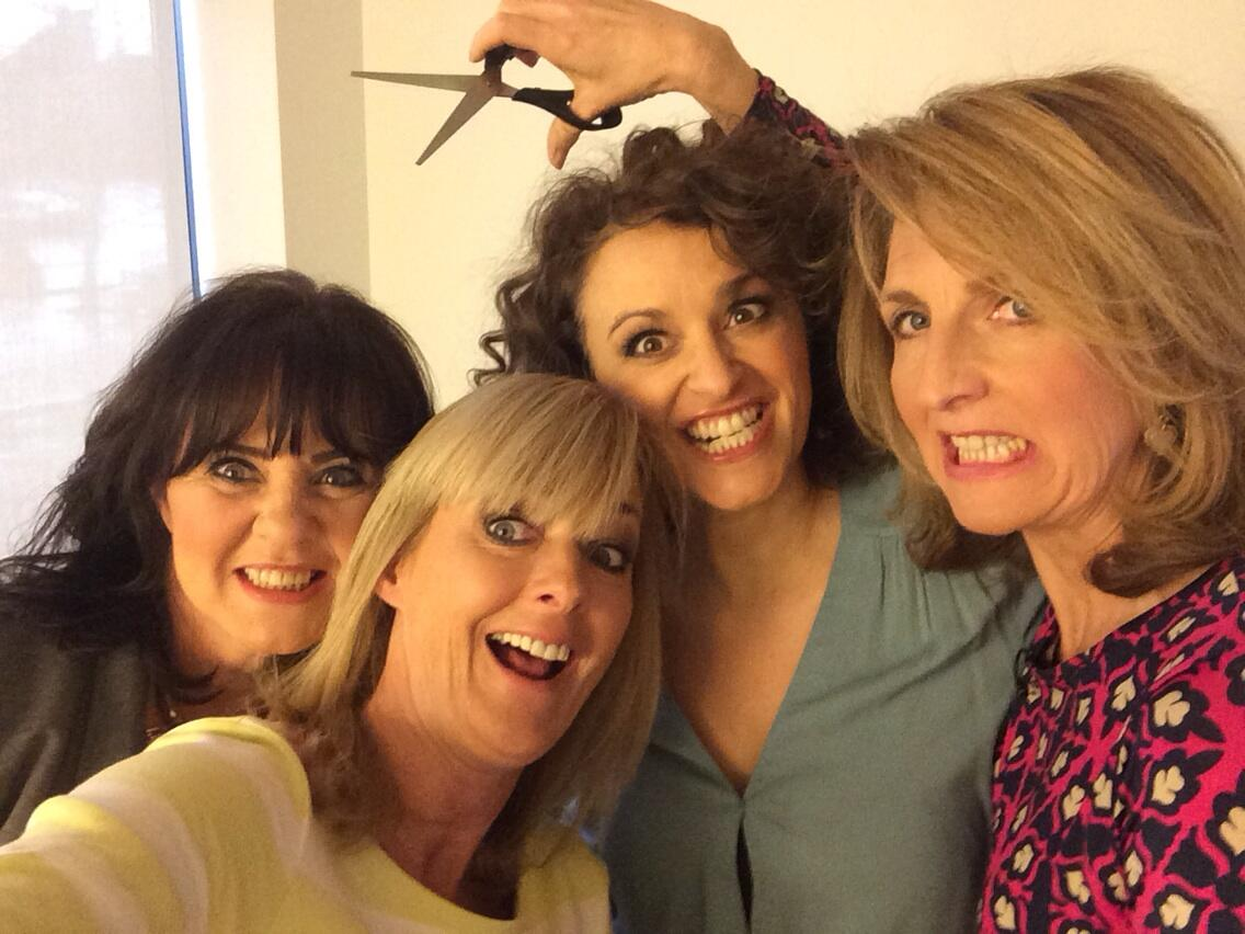 RT @janem: Not quite up there with Oscars selfie, we know, but c'est la vie @kayeadams @nadiasawalha @NolanColeen @loosewomen http://t.co/0…
