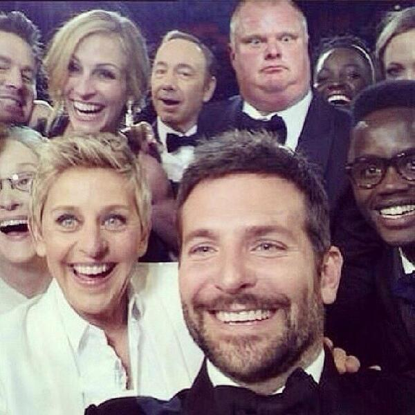 Turns out #robford did make it into the #Oscars2014 last night. #EllenDeGeneres http://t.co/Ve689ACbiH