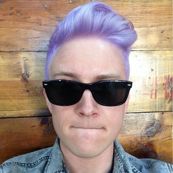Tyler Oakley Hair Lilac