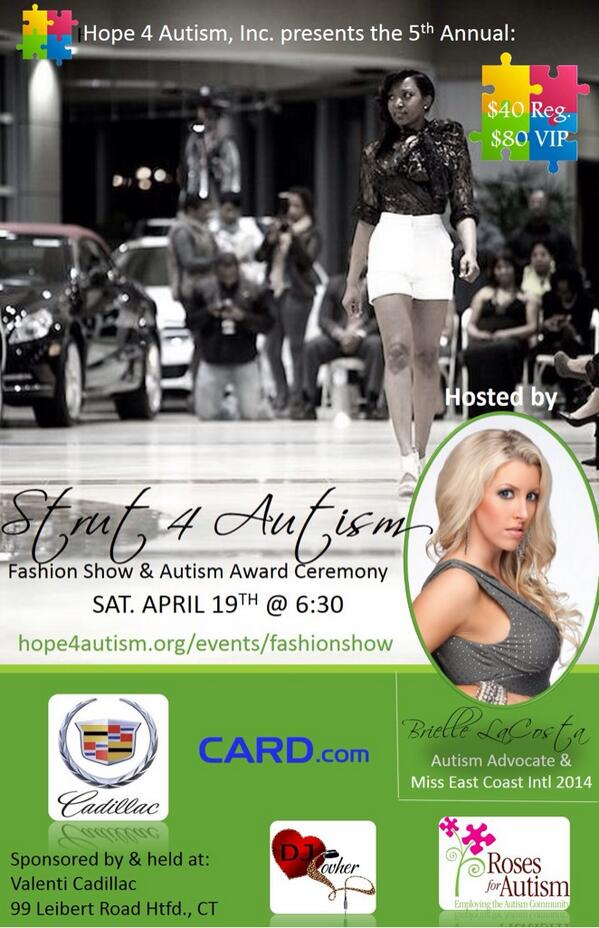 #strut4autism #fashionshow benefiting @Hope4AutismInc on 4/19. Sponsored by local @Cadillac hosted by @BrielleMissNJ http://t.co/0GkhVPqOg1