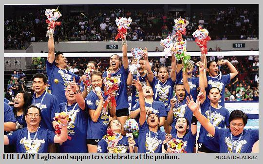 #Heartstrong @AteneodeManilaU bags #UAAP volleyball crown  http://t.co/RVrBKm1qbA | @JWPayo http://t.co/3Y1enm5chX