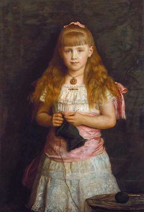 「エディンバラ公の娘マリー、後のルーマニア王妃」1882年ジョン・エヴァレット・ミレイJohn Everett Millais, Princess Marie of Edinburgh, later Queen of Romania