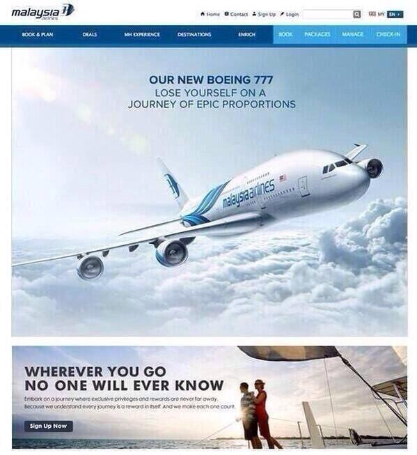 I don't think Malaysian Airlines will use this advertisement again.... http://t.co/y7RW1UQDG4