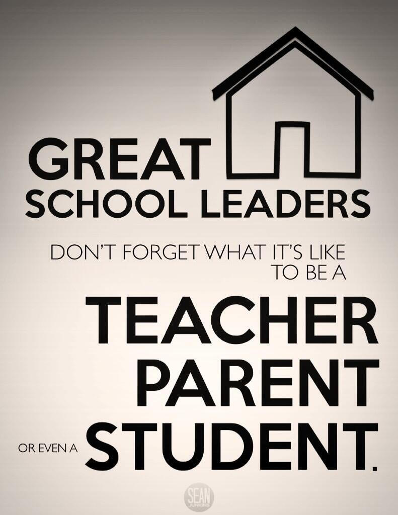 Twitter / sjunkins: Great school leaders don't ...