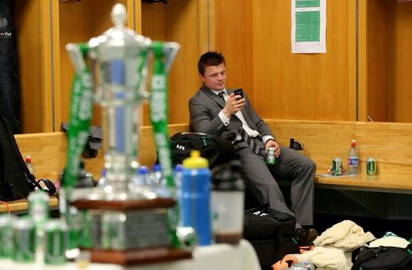 Great pic of @BrianODriscoll after the game yesterday! http://t.co/ou7RPvkfxU