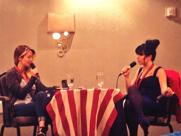 Currently up and at 'em for @WhoreCast  at #ccon! Jessica Drake and @SiouxsieQJames http://t.co/ppkLi2QPTU