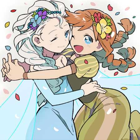 エルサ女王とアナ王女