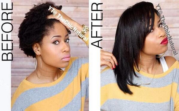 Black Girl Problems On Twitter Before After Flat Iron