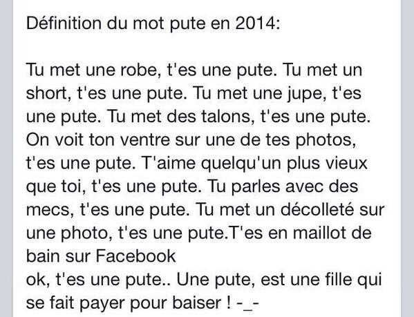 definition du mot pute pute chlef