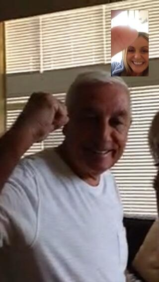 Little face time with the parents @Roy_Evo buzzing with result