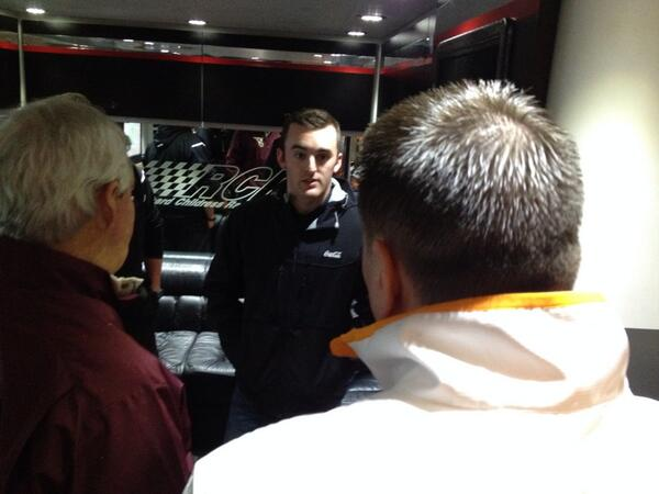 Here's @austindillon3 talking about breaking down video with @UTCoachJones at @BMSUpdates @Nascar http://t.co/GIyjK9S9ZK