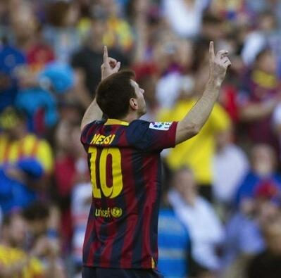 Congratulations Leo Messi. Top scorer in the history of FC.Barcelona. Awesome!! http://t.co/KBw1sOb2eu
