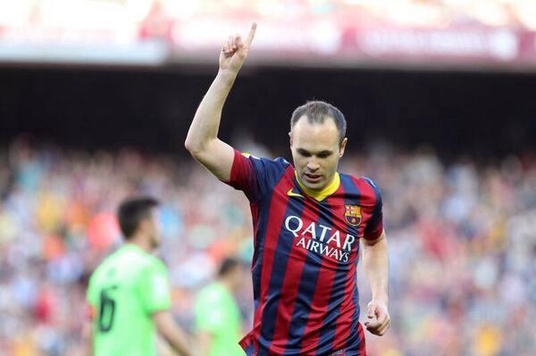 Gran victoria... Felicidades Leo, te sales... Ahora a preparar esta semana importante!!! Este gol es muy especial! http://t.co/GsE1SpsLCV