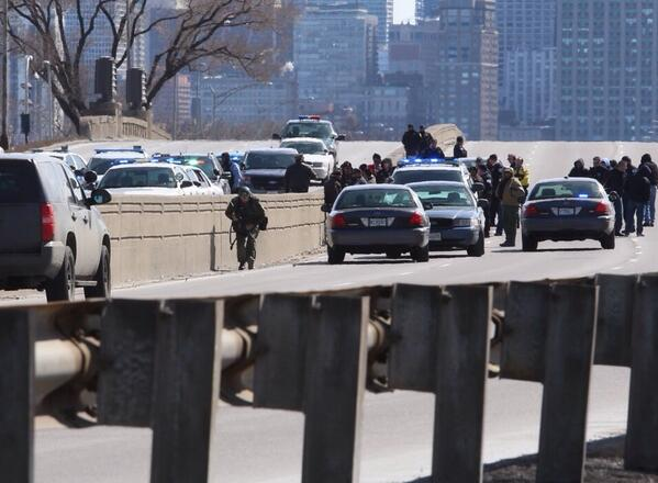 Thumbnail for Police Standoff on Lake Shore Drive: 3/16/14