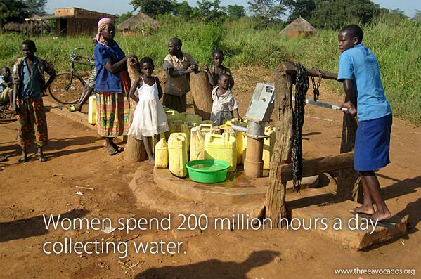 Women spend 200 million hours a day collecting water. And yes, per day! #TenDaysOfWater #WorldWaterDay http://t.co/SZvjhQgAMD
