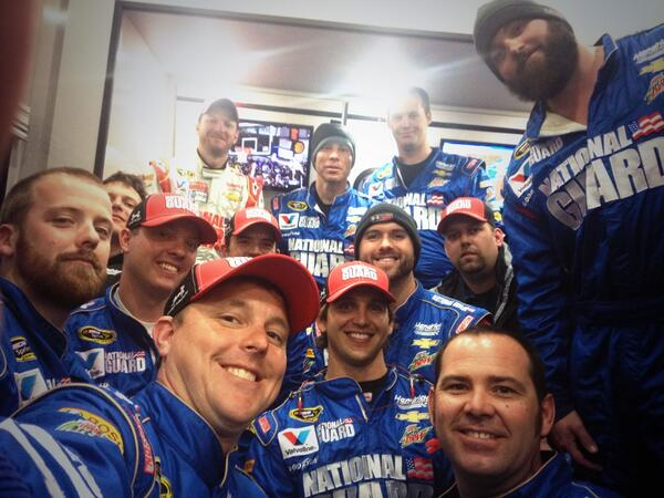 Here's @DaleJr and the @NationalGuard team's #NASCARSelfie! http://t.co/Ch4FzbrXy9