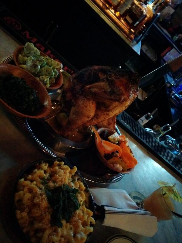 the ridiculously awesome beer can chicken @BootsBourbon !!! http://t.co/YmTh8JG9Z6