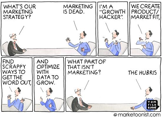 """Growth Hackers"" - new cartoon and post on the Silicon Valley debate to replace marketers http://t.co/oHinU86lka http://t.co/3mYj1xuucf"
