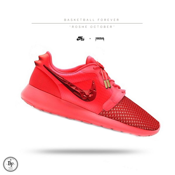 nike roshe run red october yeezy
