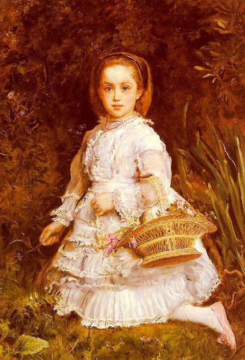 「グラシア・リーズの肖像」1875年ジョン・エヴァレット・ミレイJohn Everett Millais, Portrait of Gracia Lees