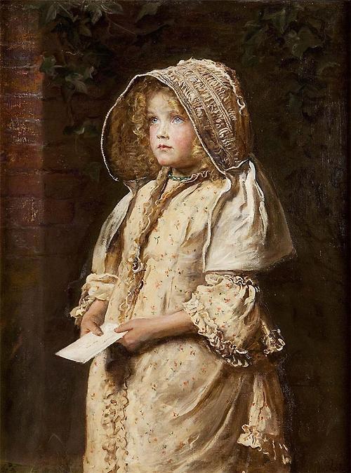 「旦那様宛ての手紙」1882年ジョン・エヴァレット・ミレイJohn Everett Millais, For The Squire