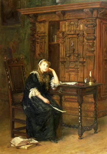 「幽閉されたエリザベス王女」1879年ジョン・エヴァレット・ミレイJohn Everett Millais, Princess Elizabeth in Prison